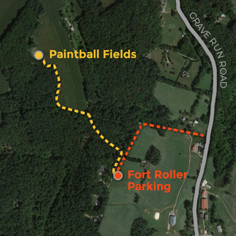 paintball parking map
